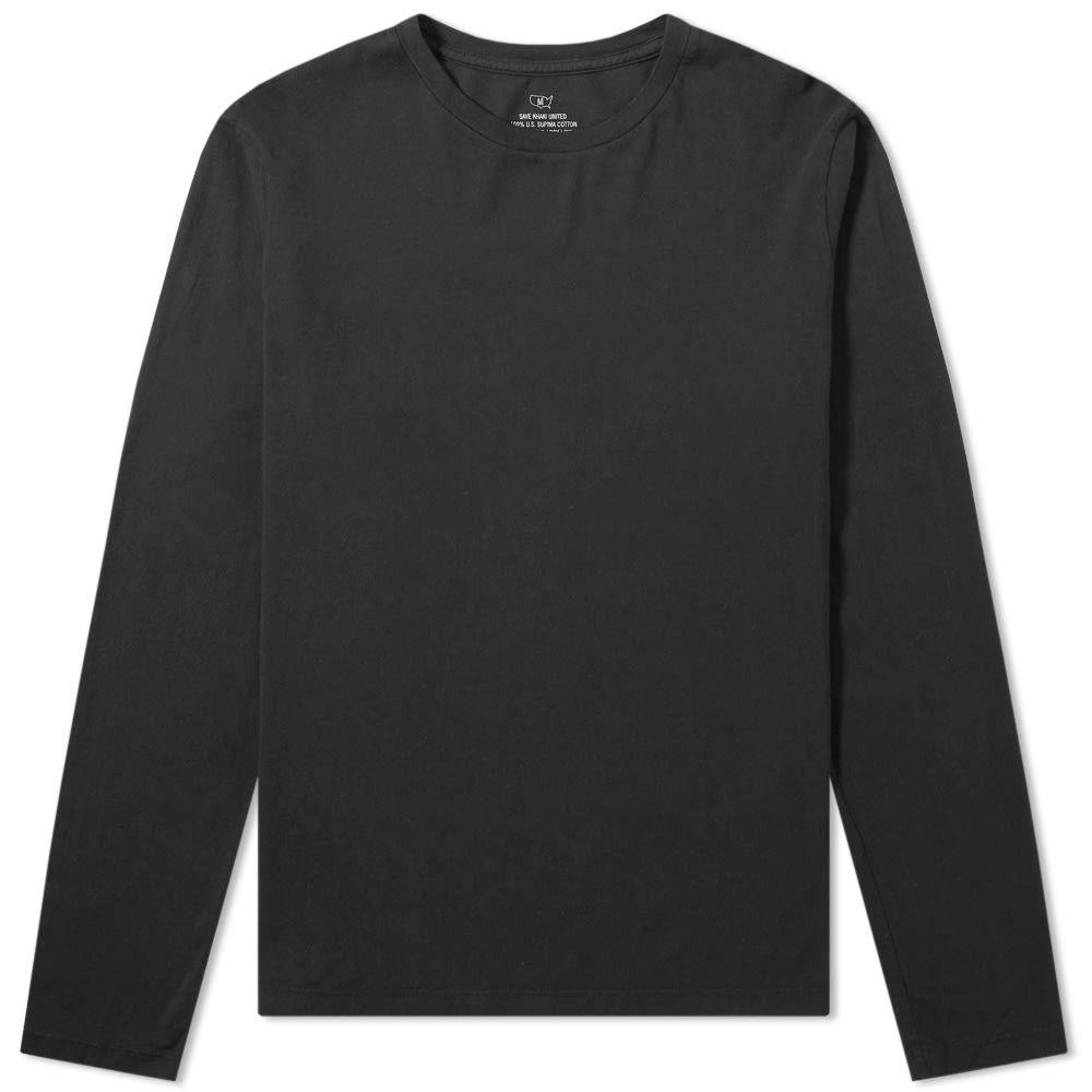 セーブカーキユナイテッド Save Khaki メンズ 長袖Tシャツ トップス【long sleeve supima tee】Black