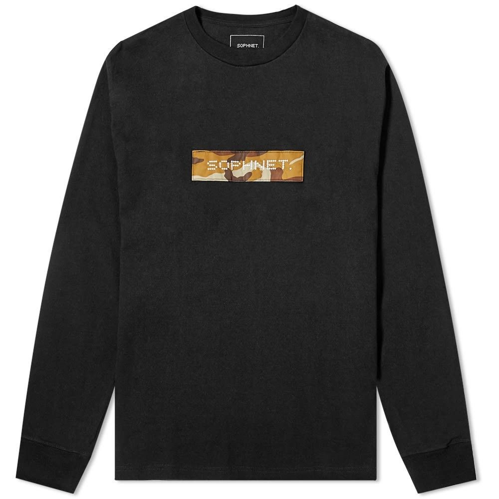 ソフネット SOPHNET. メンズ 長袖Tシャツ ロゴTシャツ トップス【long sleeve box logo tee】Black
