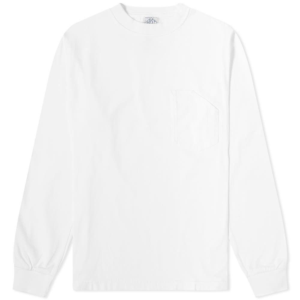 ポストオーバーオールズ Post Overalls メンズ 長袖Tシャツ ポケット トップス【long sleeve pocket tee】White