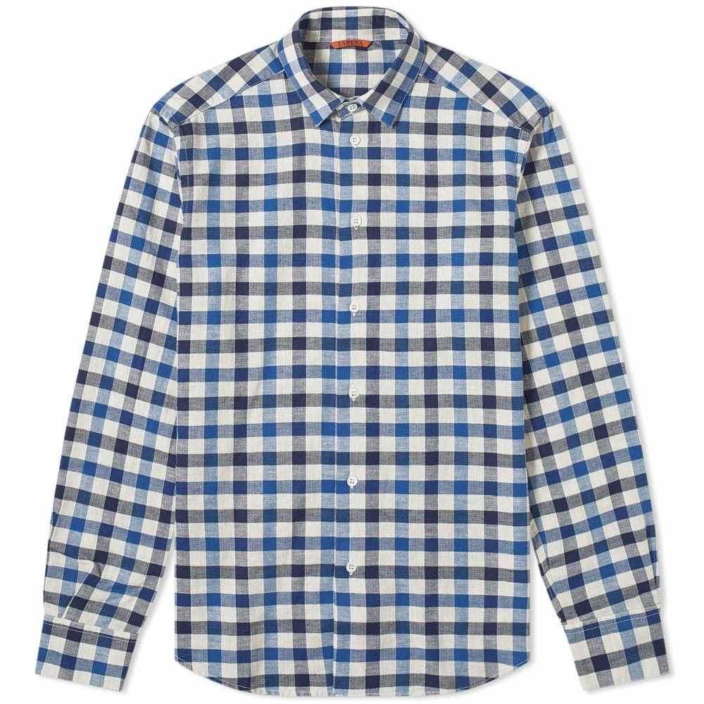 バレナ Barena メンズ シャツ トップス【check shirt】Navy