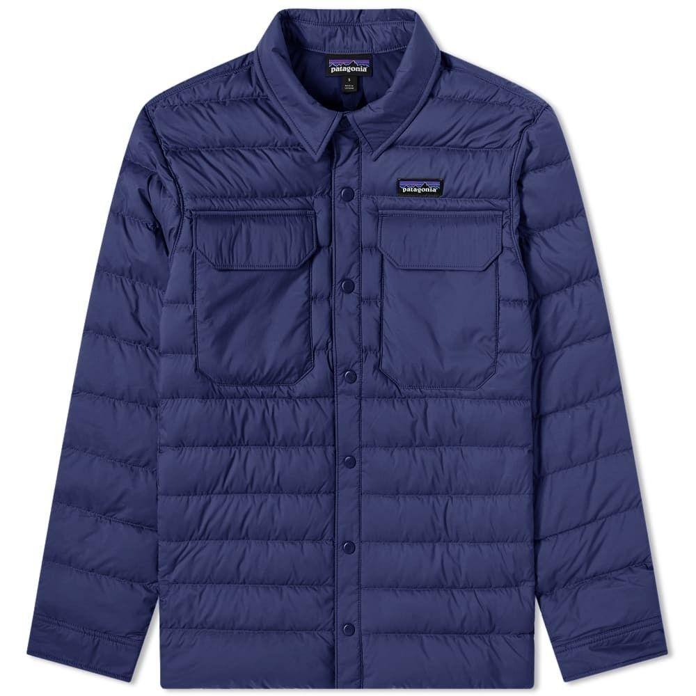 パタゴニア Patagonia メンズ ダウン・中綿ジャケット シャツジャケット アウター【silent down shirt jacket】Neo Navy