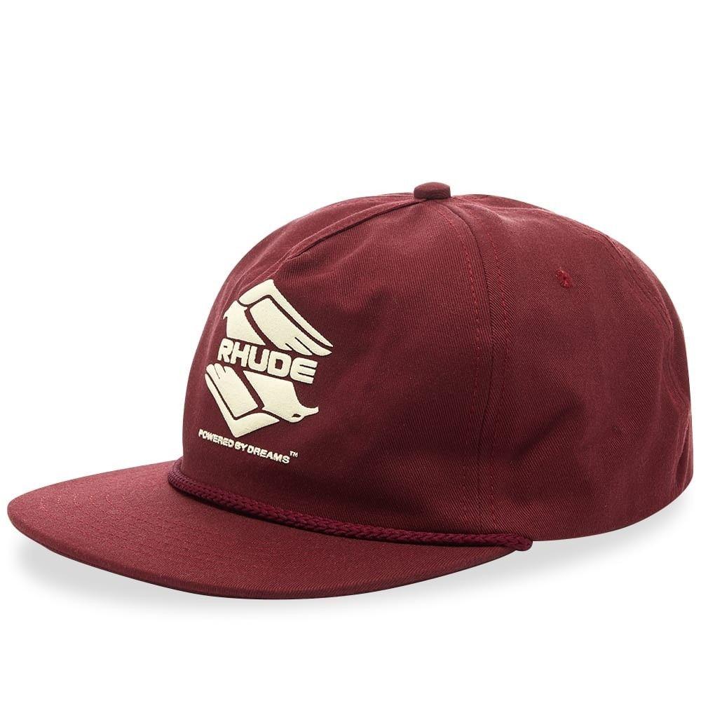 ルード メンズ 帽子 キャップ Burgundy 【サイズ交換無料】 ルード Rhude メンズ キャップ 帽子【dbl eagle cap】Burgundy