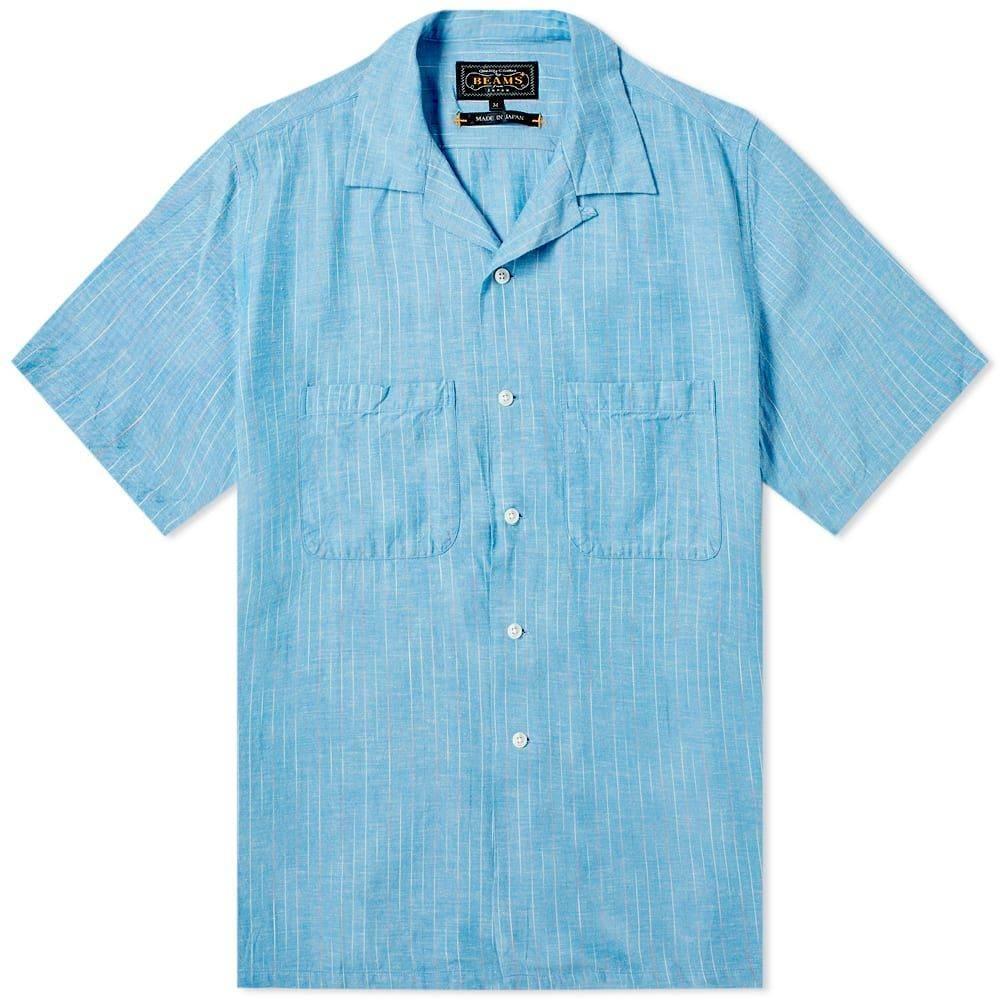ビームス プラス Beams Plus メンズ 半袖シャツ トップス【colour slub yarn vacation shirt】Blue