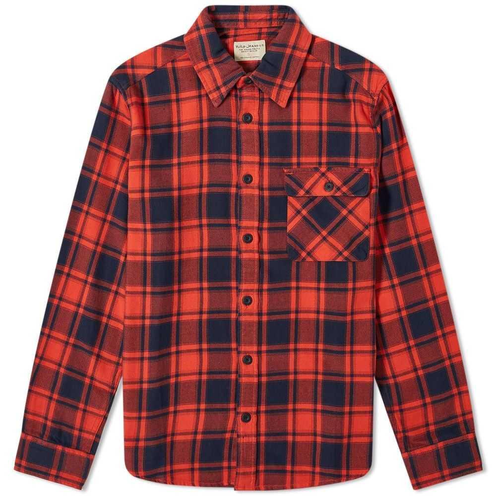 ヌーディージーンズ Nudie Jeans Co メンズ シャツ トップス【nudie sten check shirt】Red