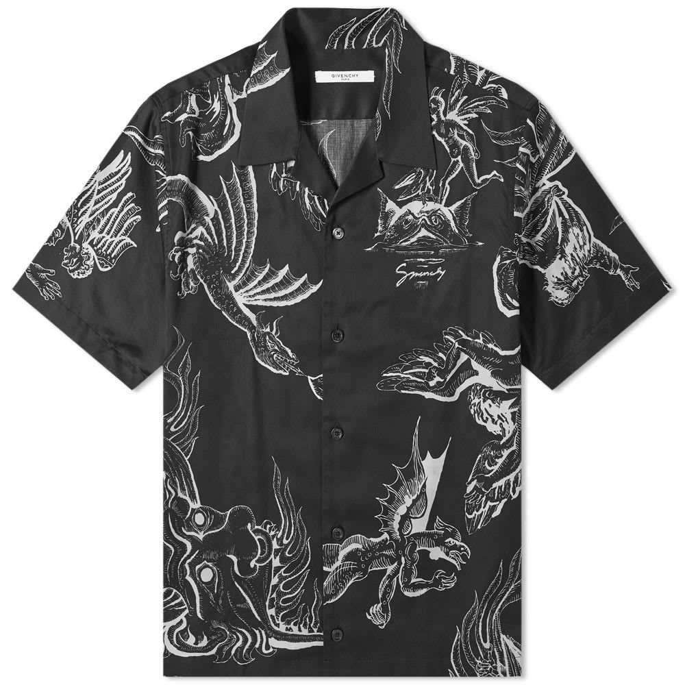 【通販激安】 ジバンシー Givenchy メンズ 半袖シャツ 半袖シャツ アロハシャツ メンズ トップス【dragon hawaiian shirt】Black shirt】Black:フェルマート, ホリガネムラ:1b0300c1 --- nagari.or.id