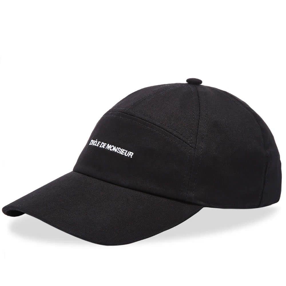 ドロール ド ムッシュ メンズ 帽子 キャップ Black 【サイズ交換無料】 ドロール ド ムッシュ Drole de Monsieur メンズ キャップ 帽子【7 panel logo cap】Black