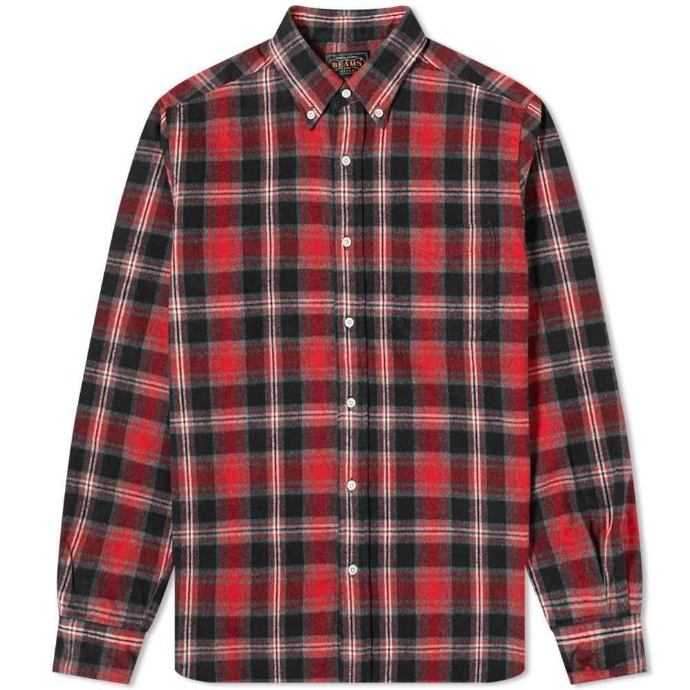 ビームス プラス Beams Plus メンズ シャツ トップス【shaggy check shirt】Red