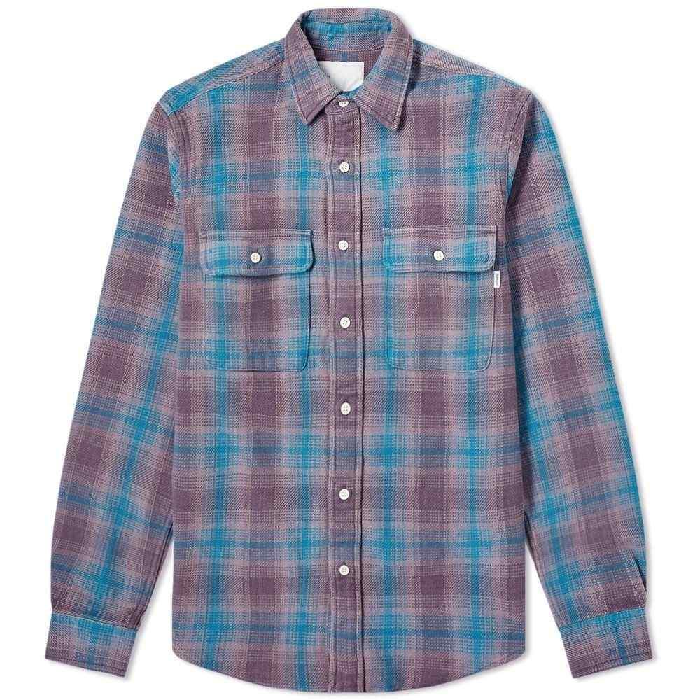 アドサム Adsum メンズ シャツ ワークシャツ トップス【check workshirt】Dusty Purple/Turquoise
