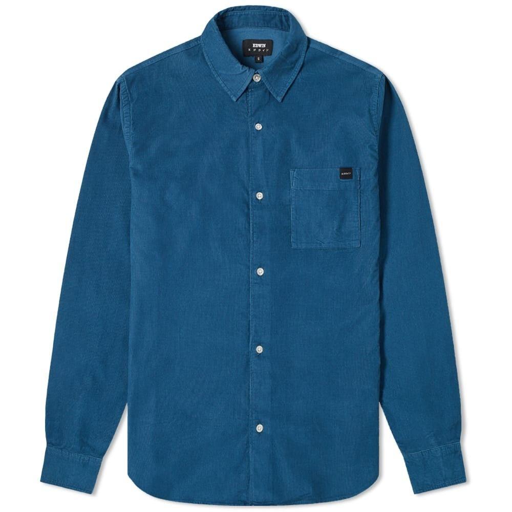 エドウィン Edwin メンズ シャツ トップス【minimal cord shirt】Legion Blue