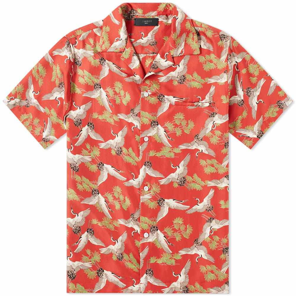 アミリ AMIRI メンズ 半袖シャツ トップス【short sleeve crane shirt】Scarlet