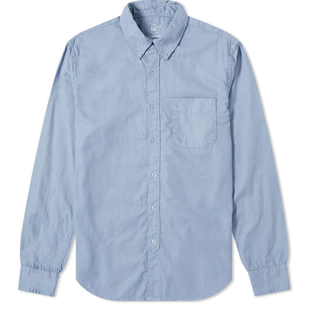 セーブカーキユナイテッド Save Khaki メンズ シャツ トップス【garment dyed button down oxford shirt】Storm