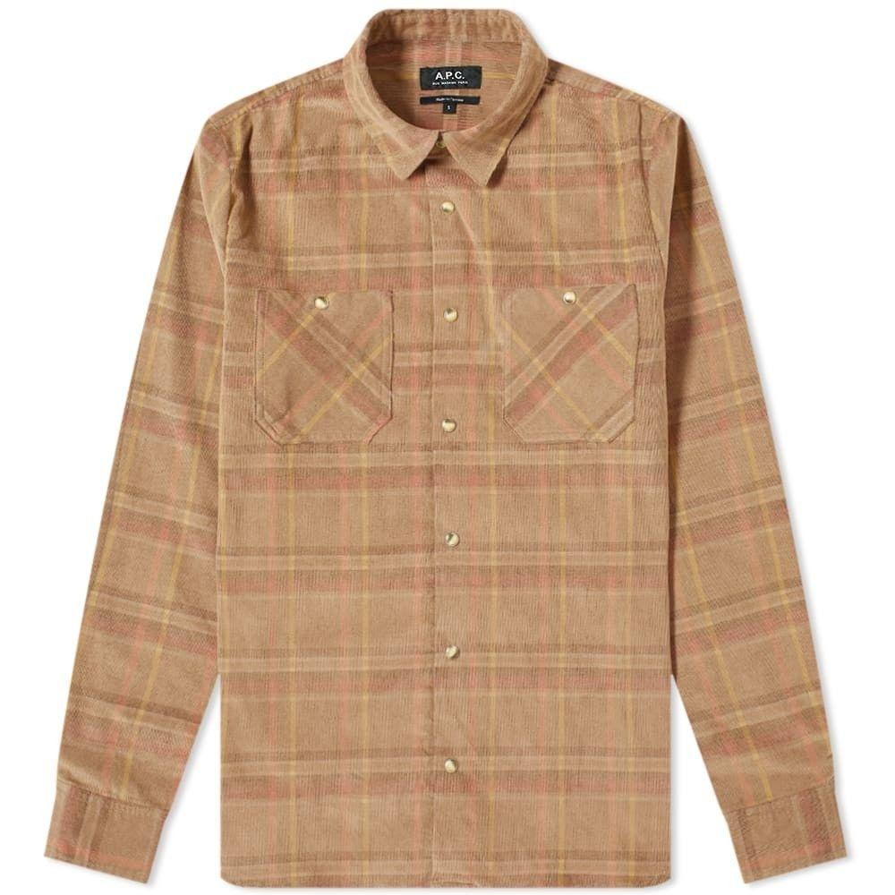 アーペーセー A.P.C. メンズ シャツ オーバーシャツ トップス【tundra corduroy overshirt】Dark Beige