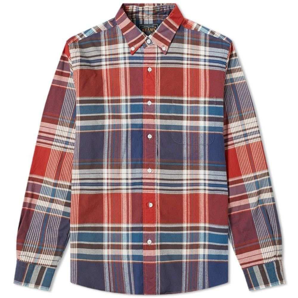 ビームス プラス Beams Plus メンズ シャツ トップス【big check shaggy shirt】Red