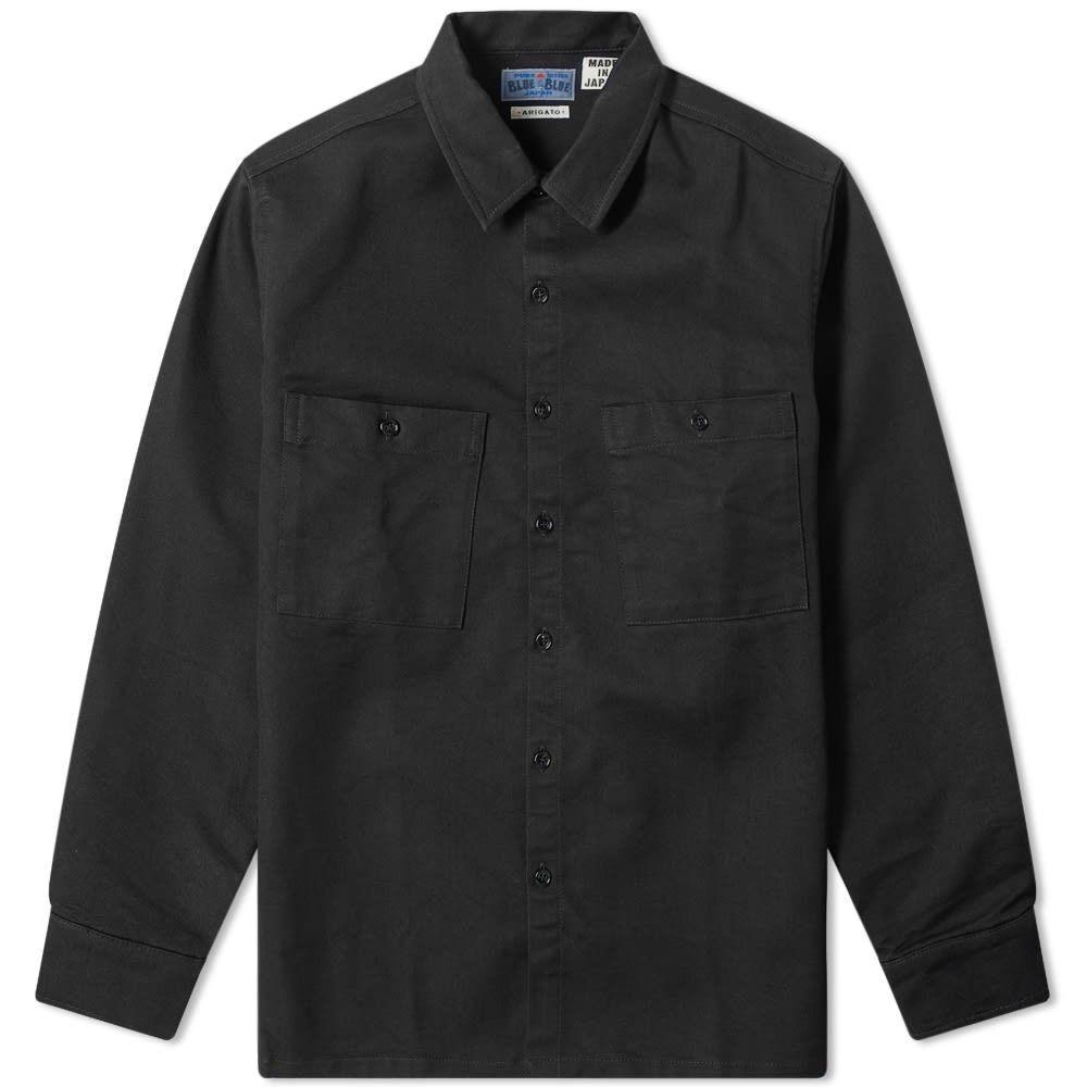 ブルーブルージャパン Blue Blue Japan メンズ シャツ オーバーシャツ トップス【twill overshirt】Black