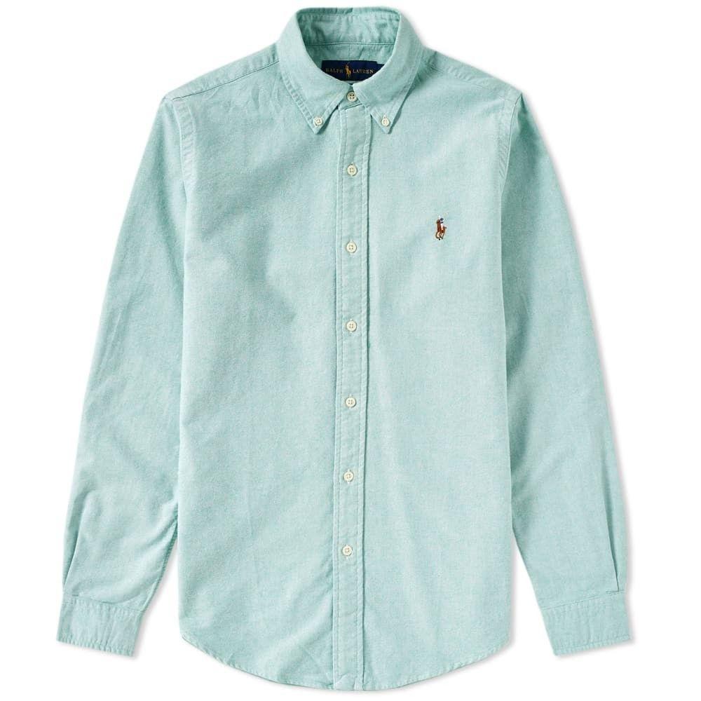 ラルフ ローレン Polo Ralph Lauren メンズ シャツ トップス【slim fit button down oxford shirt】Light Green