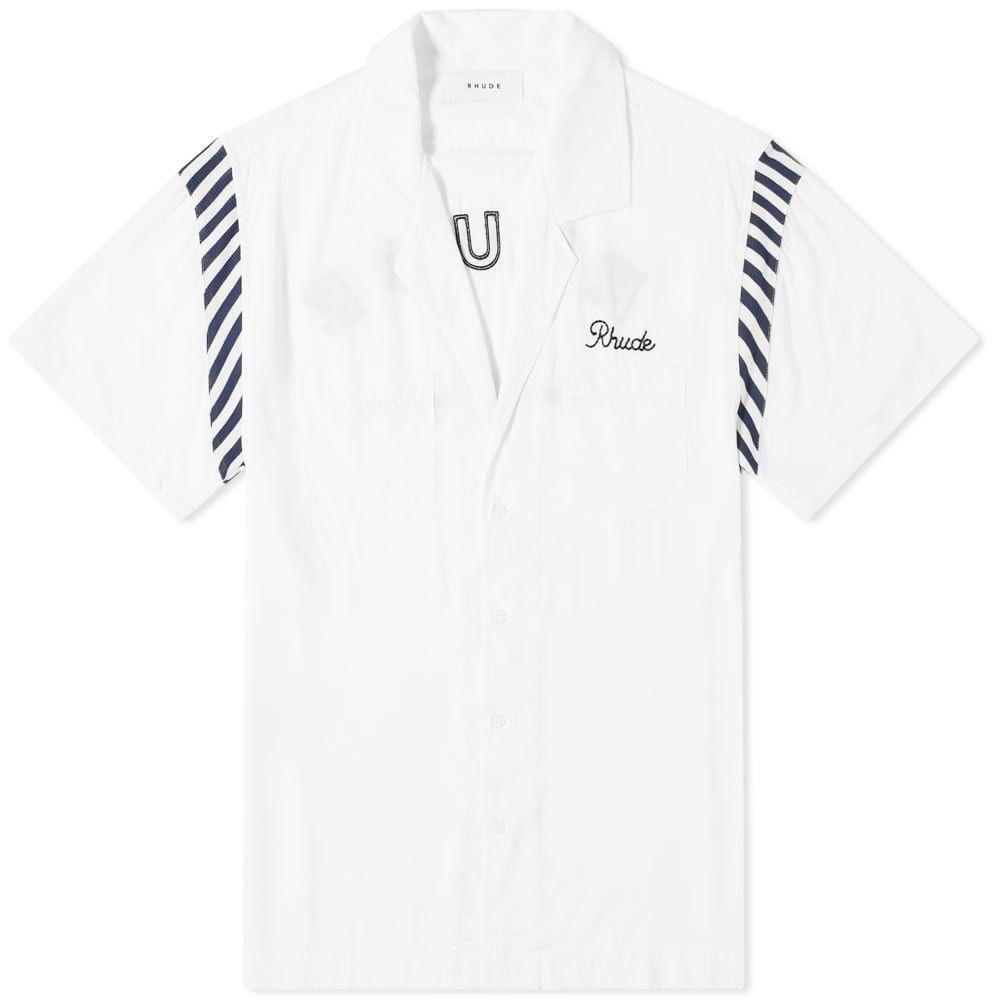 ルード Rhude メンズ 半袖シャツ トップス【bowling shirt】White