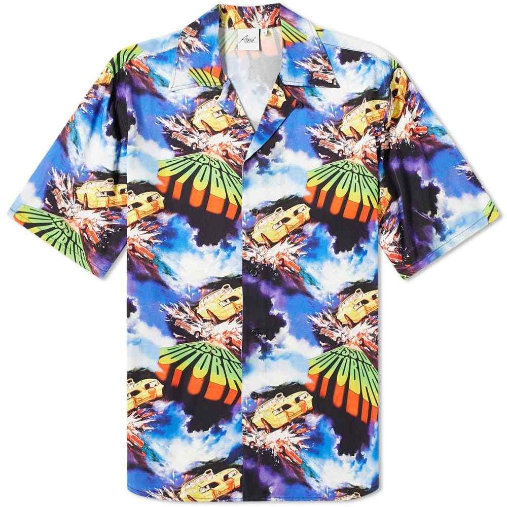 アッシド Assid メンズ 半袖シャツ アロハシャツ トップス【short sleeve hawaiian autobahn shirt】All Over Print