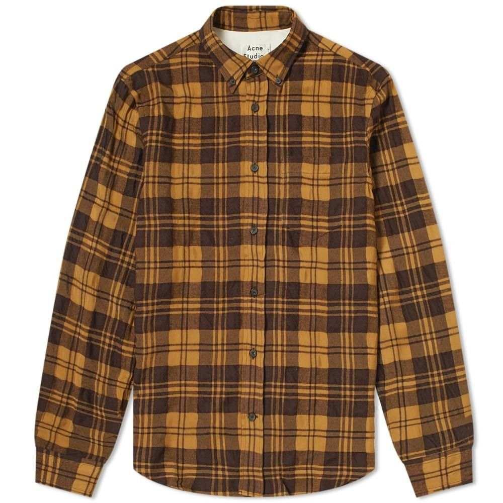 アクネ ストゥディオズ Acne Studios メンズ シャツ トップス【sarkis woven check shirt】Chestnut Brown