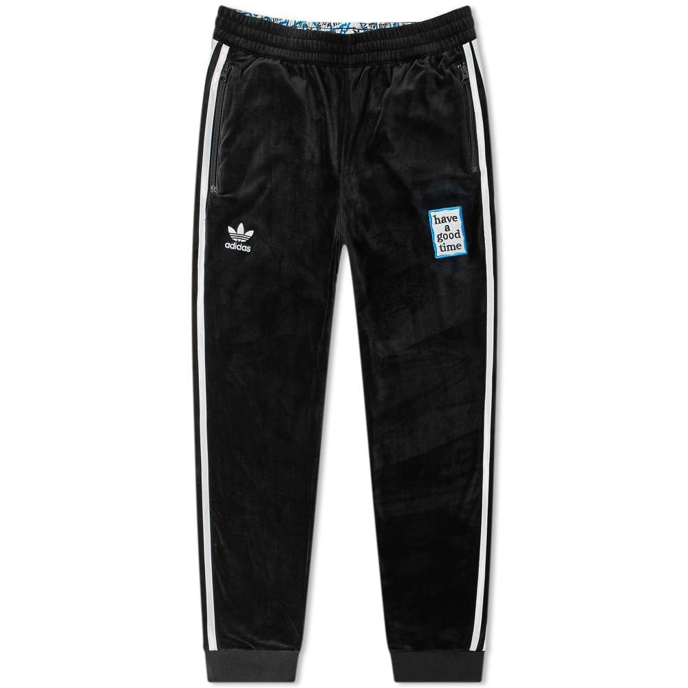 アディダス Adidas メンズ スウェット・ジャージ ボトムス・パンツ【x have a good time velour track pants】Black