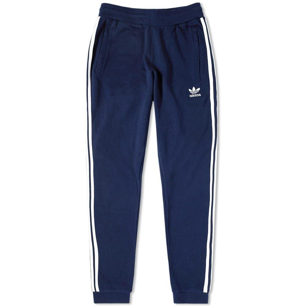 アディダス Adidas メンズ スウェット・ジャージ ボトムス・パンツ【3 stripe sweat pant】Collegiate Navy