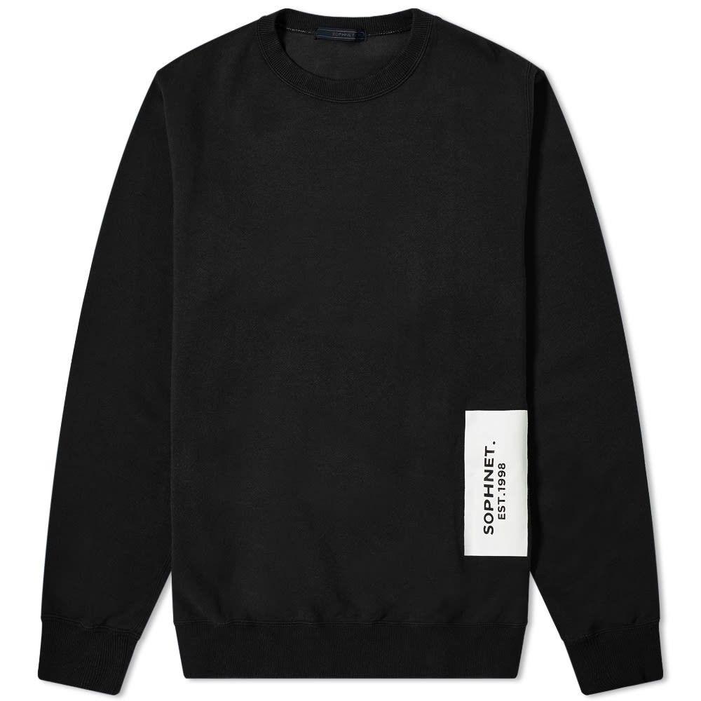 ソフネット SOPHNET. メンズ スウェット・トレーナー トップス【back stripe panel crew sweat】Black