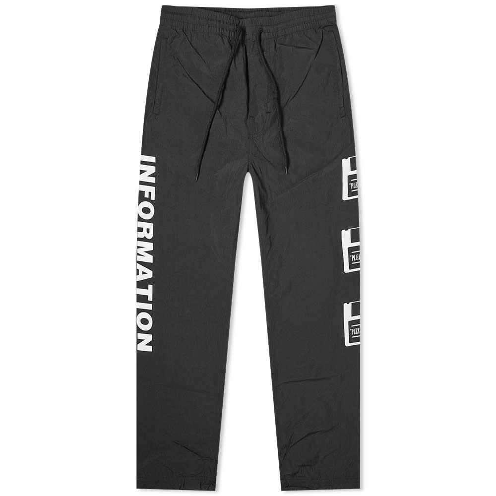 プレジャーズ PLEASURES メンズ スウェット・ジャージ ボトムス・パンツ【over you nylon track pant】Black