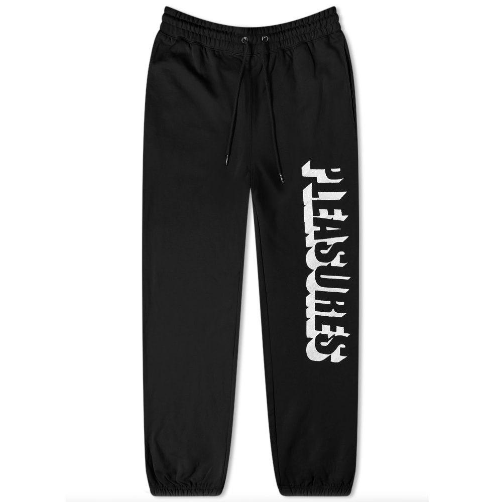 プレジャーズ PLEASURES メンズ スウェット・ジャージ ボトムス・パンツ【harvard embroidered sweat pant】Black
