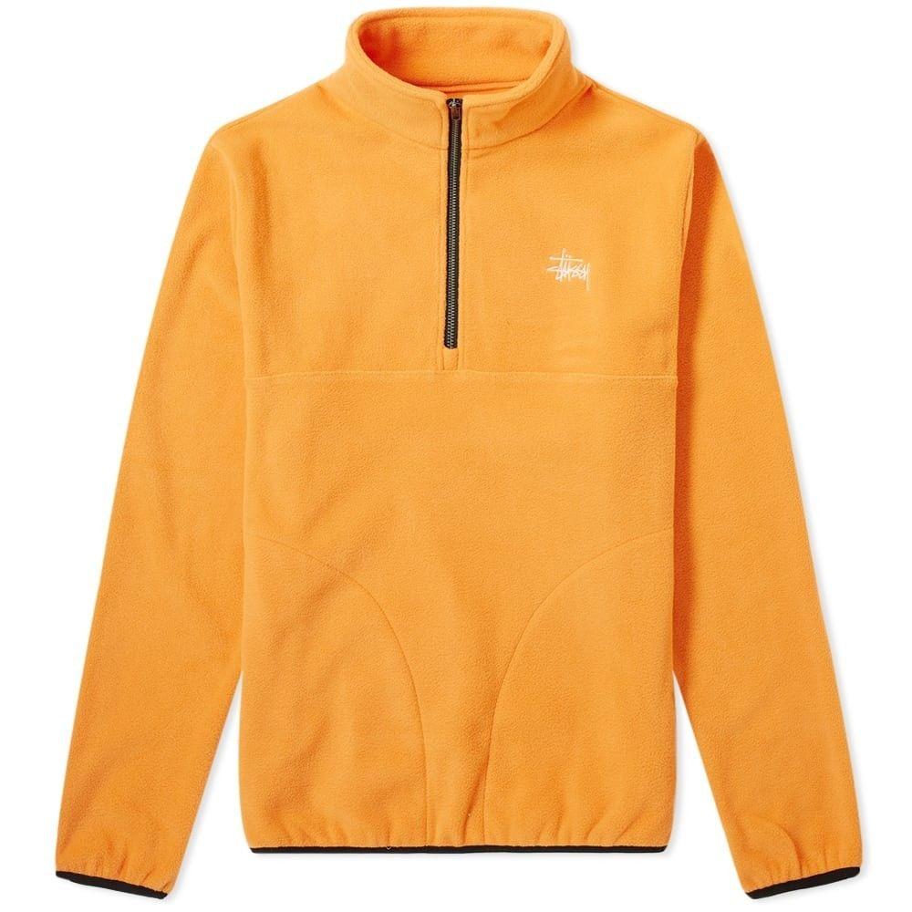 ステューシー Stussy メンズ フリース トップス【basic polar fleece mock sweat】Orange