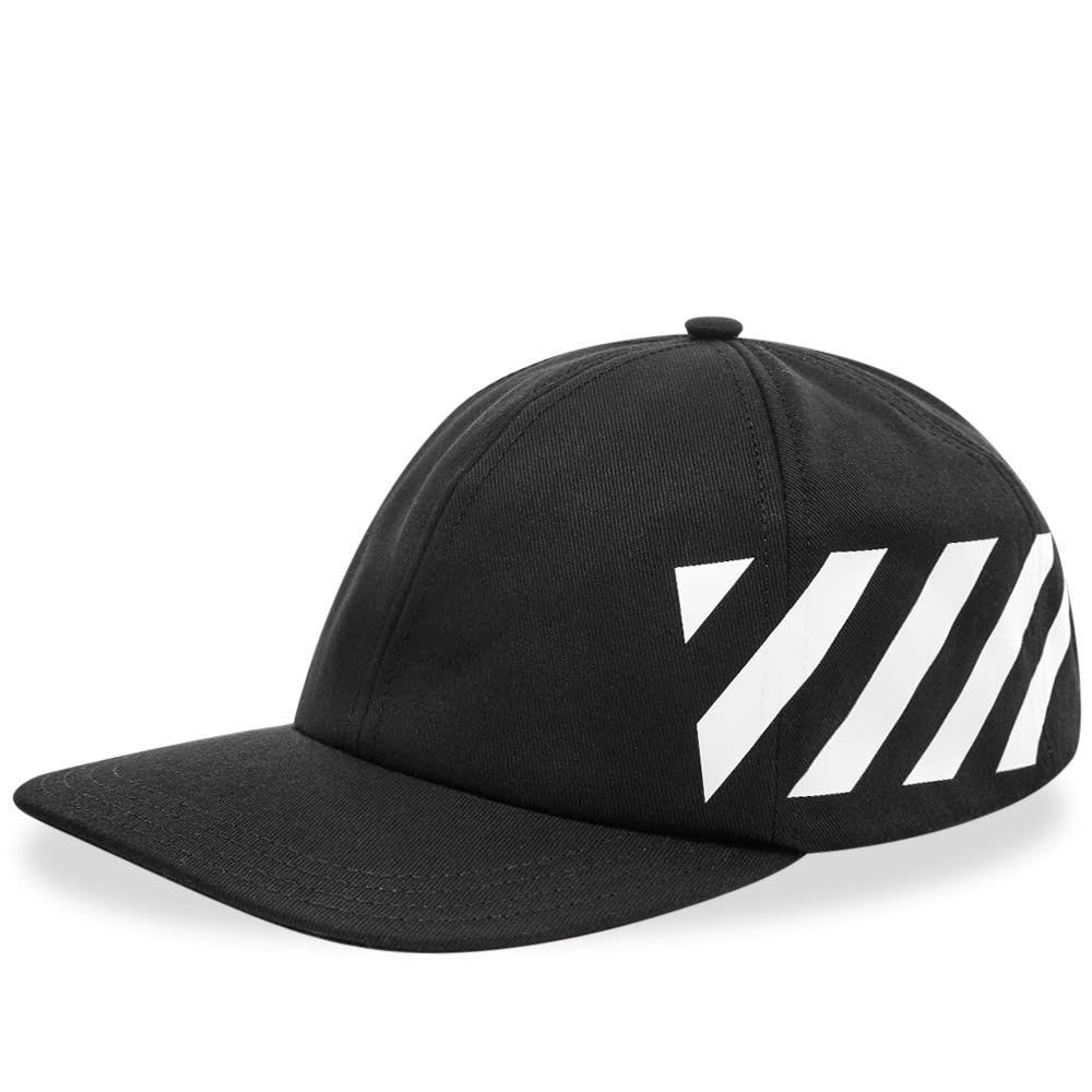 オフホワイト メンズ 帽子 キャップ Black 【サイズ交換無料】 オフホワイト Off-White メンズ キャップ ベースボールキャップ 帽子【diagonal baseball cap】Black