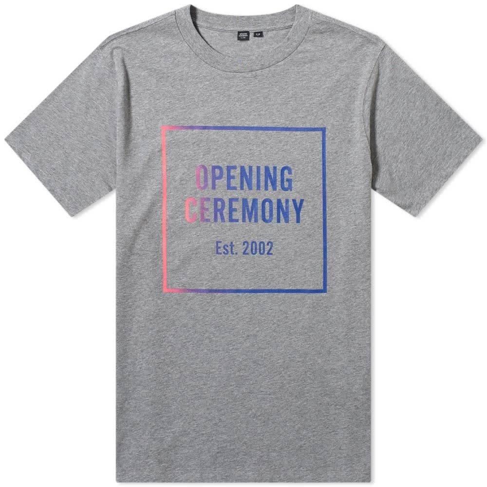 オープニングセレモニー Opening Ceremony メンズ Tシャツ ロゴTシャツ トップス【ombre box logo tee】Heather Grey