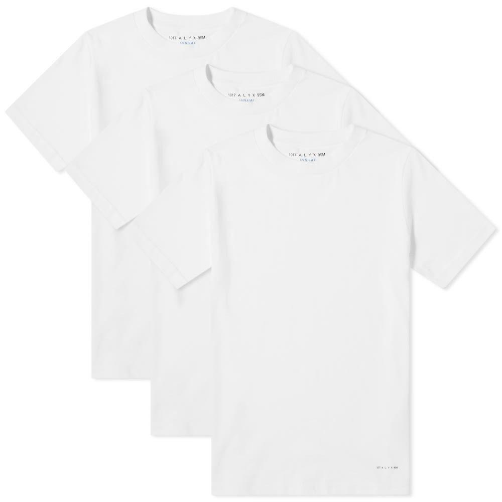 アリクス 1017 ALYX 9SM メンズ Tシャツ 3点セット トップス【visual tee - 3 pack】White