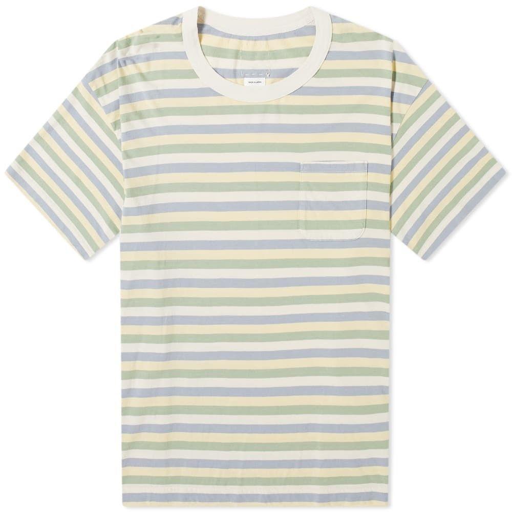 ビズビム Visvim メンズ Tシャツ トップス【border jumbo tee】Green