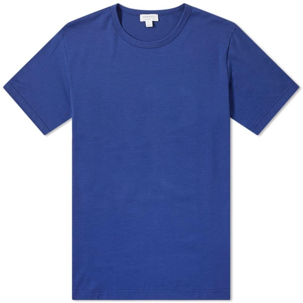 サンスペル Sunspel メンズ Tシャツ トップス【classic crew neck tee】Todd Blue