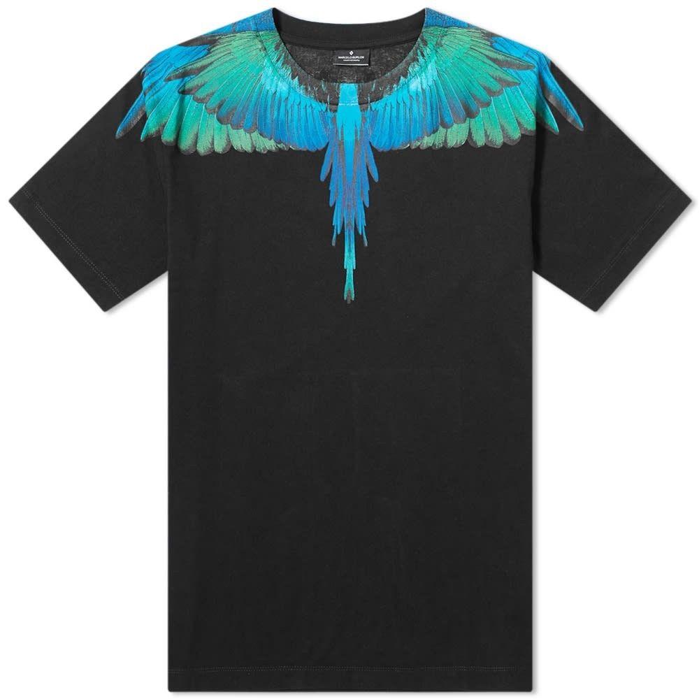 マルセロバーロン Marcelo Burlon メンズ Tシャツ トップス【blue wings tee】Black