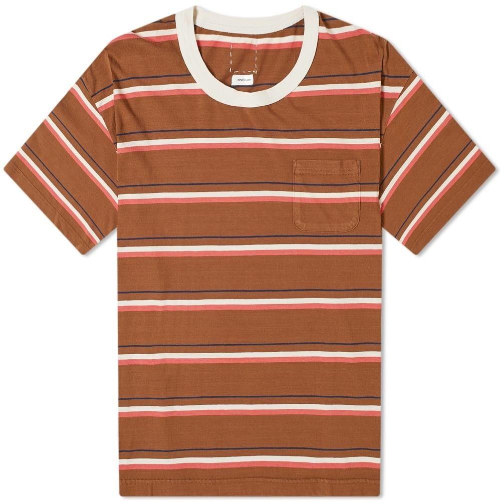 ビズビム Visvim メンズ Tシャツ トップス【border jumbo tee】Brown