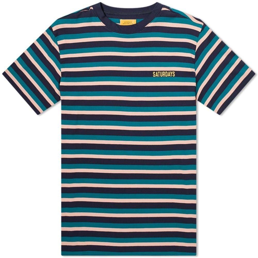 サタデーニューヨーク Saturdays NYC メンズ Tシャツ トップス【skelton tee】Salmon