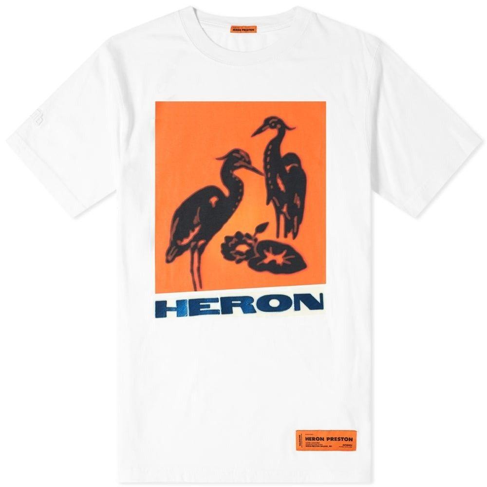 ヘロン プレストン Heron Preston メンズ Tシャツ トップス【heron tape tee】White