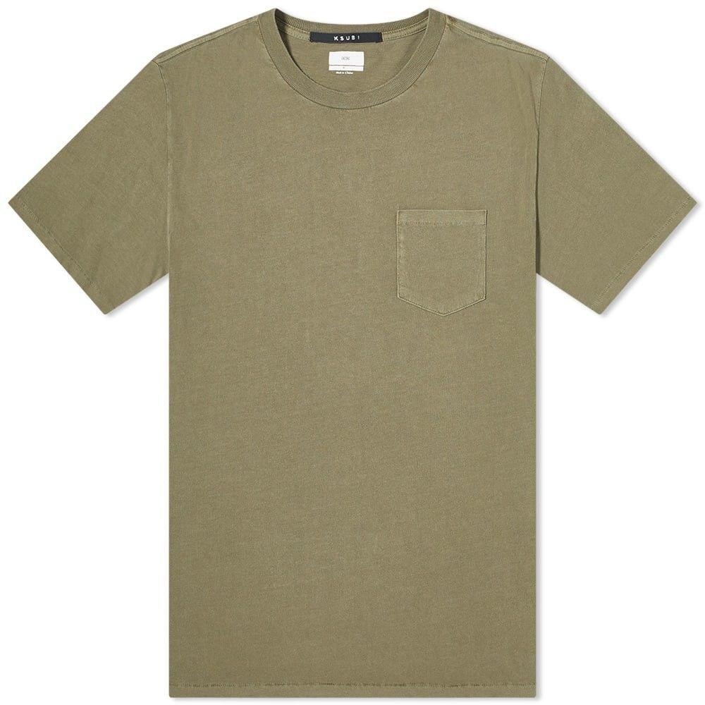 スビ Ksubi メンズ Tシャツ ポケット トップス【cache pocket tee】Green