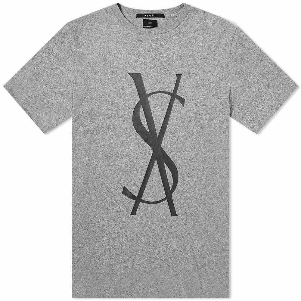 スビ Ksubi メンズ Tシャツ トップス【fancy dollar tee】Grey Marl