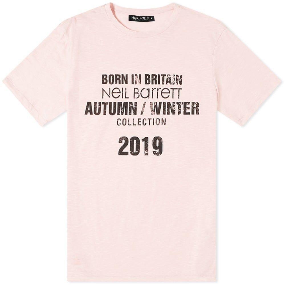 ニール バレット Neil Barrett メンズ Tシャツ トップス【collection date tee】Pink/Black
