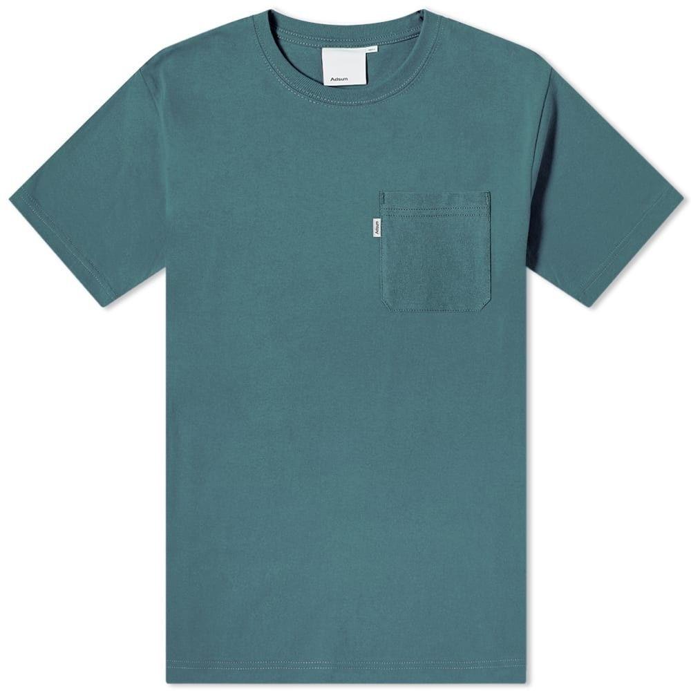 アドサム Adsum メンズ Tシャツ ポケット トップス【pocket tee】Grey Green