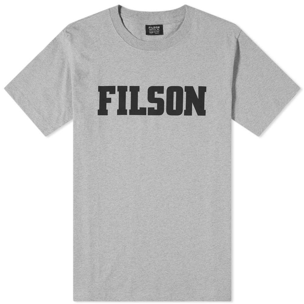 フィルソン Filson メンズ Tシャツ ロゴTシャツ トップス【logo outfitter tee】Grey Heather