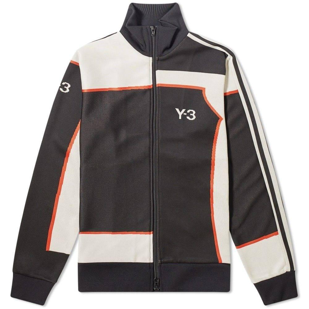ワイスリー Y-3 メンズ ジャージ アウター【jacquard track jacket】Black/Ecru/Icon Orange