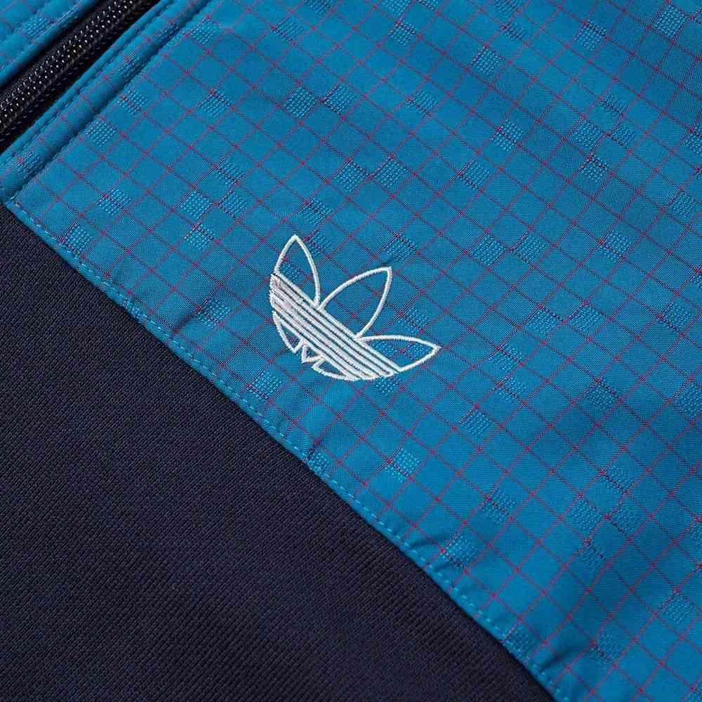 アディダス Adidas メンズ ジャージ アウター fleece panel track top Active Teal BedeCoxBr
