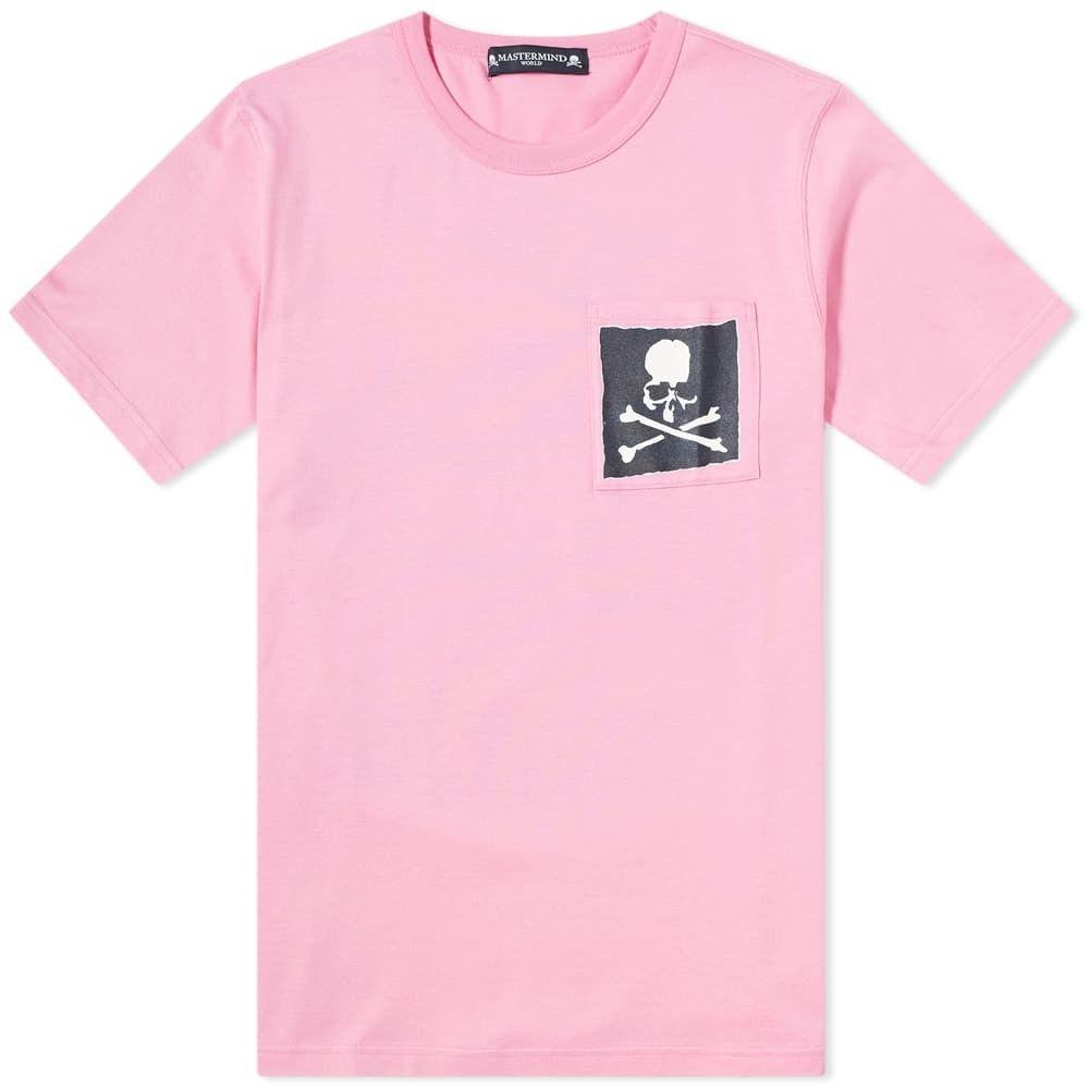 マスターマインド MASTERMIND WORLD メンズ Tシャツ ポケット トップス【skull pocket tee】Pink