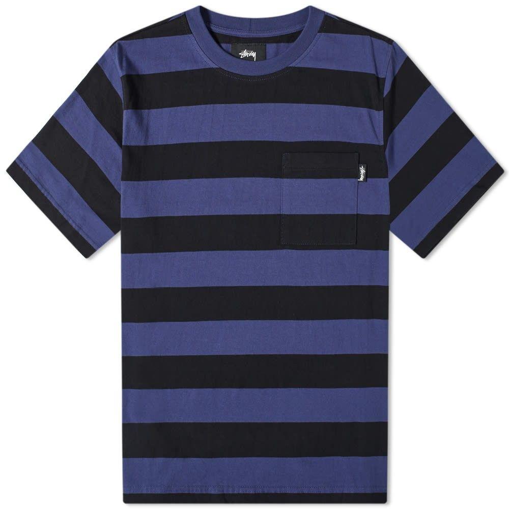 ステューシー Stussy メンズ Tシャツ トップス【classic stripe tee】Navy