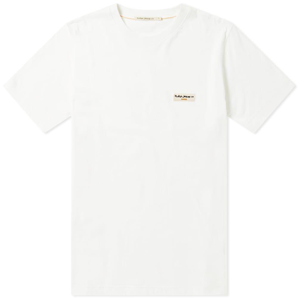 ヌーディージーンズ Nudie Jeans Co メンズ Tシャツ ロゴTシャツ トップス【nudie daniel logo tee】Off White