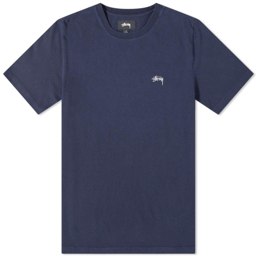 ステューシー Stussy メンズ Tシャツ トップス【stock crew tee】Navy
