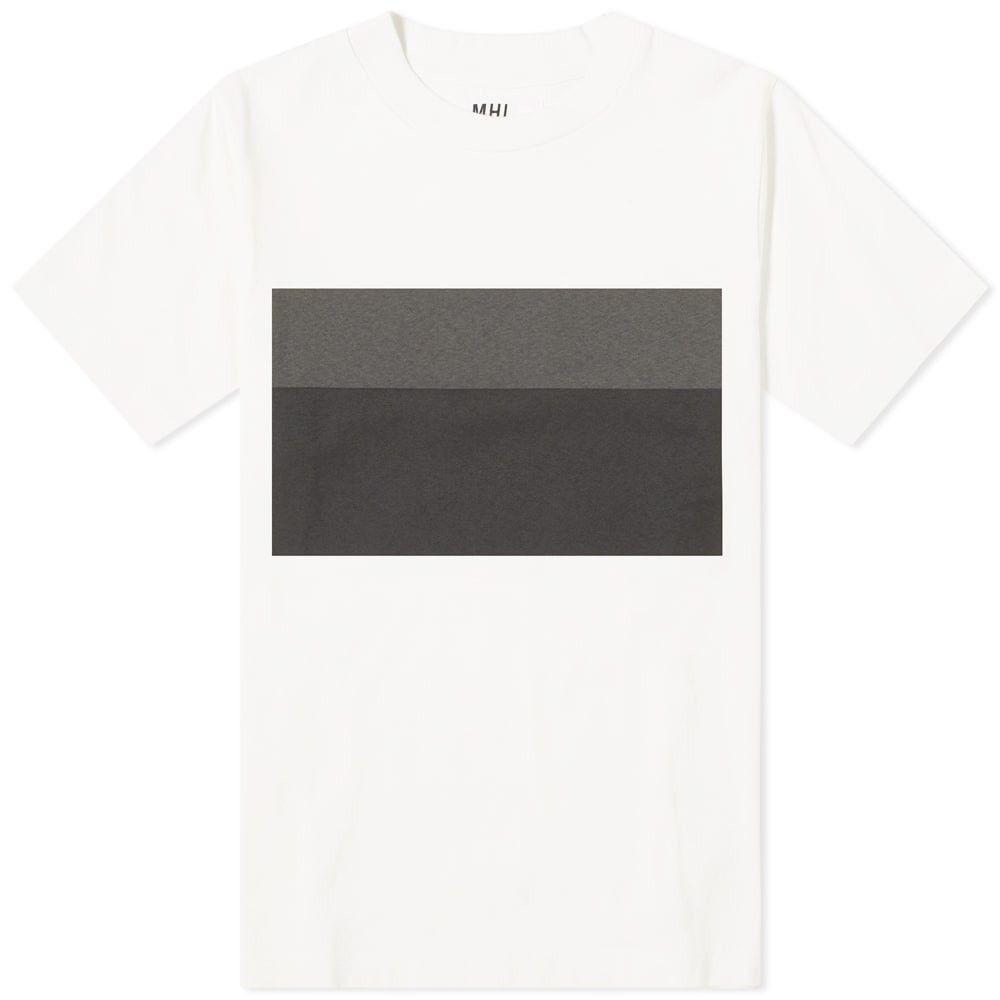エムエイチエル MHL by Margaret Howell メンズ Tシャツ トップス【mhl. by margaret howell two tone print tee】Off White/Black