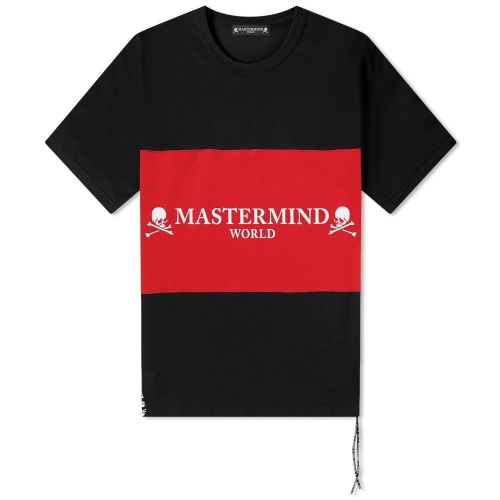 超人気高品質 マスターマインド logo MASTERMIND WORLD トップス【colour メンズ WORLD Tシャツ ロゴTシャツ トップス【colour block logo tee】Black/Red:フェルマート, トミヤママチ:d2acb6ff --- nagari.or.id